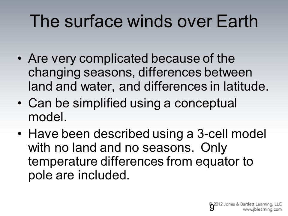 The surface winds over Earth
