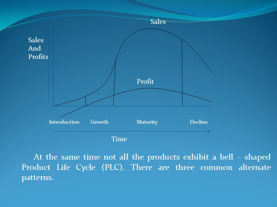 At the same time not all the products exhibit a bell – shaped Product Life Cycle (PLC). There are three common alternate patterns.