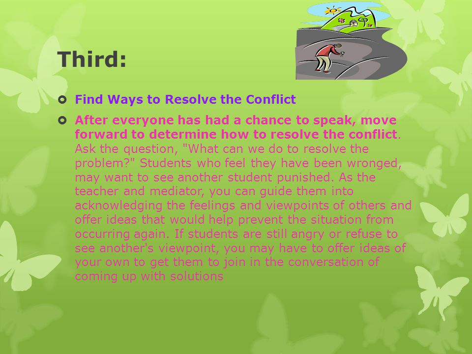 Third: Find Ways to Resolve the Conflict