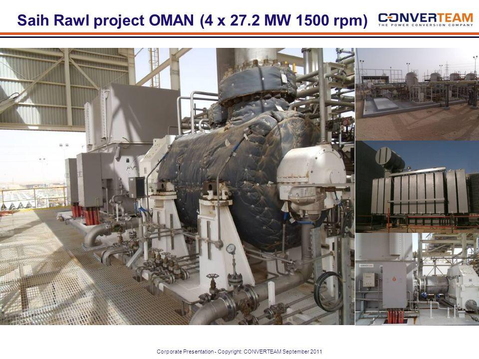 Saih Rawl project OMAN (4 x 27.2 MW 1500 rpm)