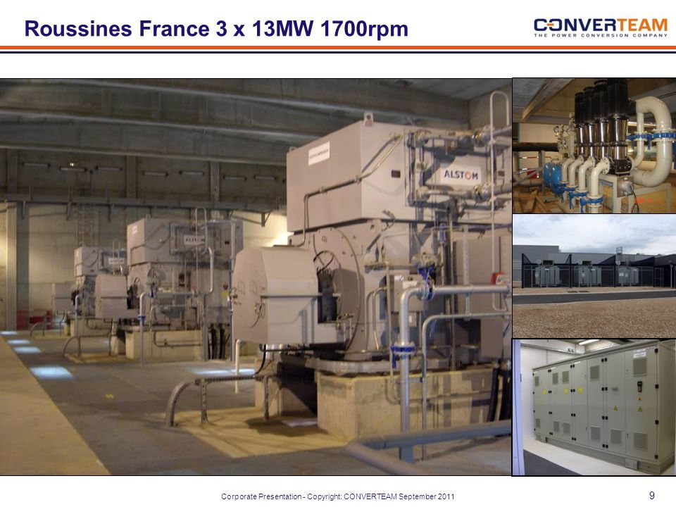 Roussines France 3 x 13MW 1700rpm