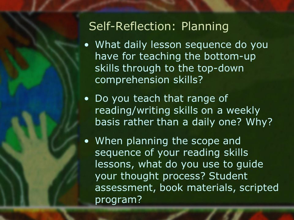 Self-Reflection: Planning