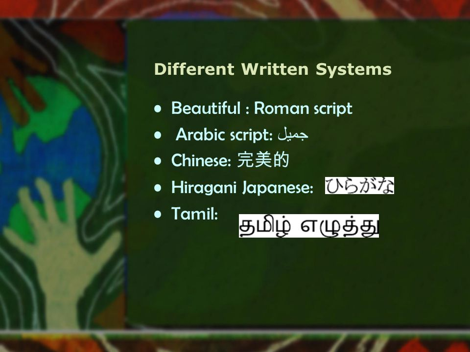 Different Written Systems