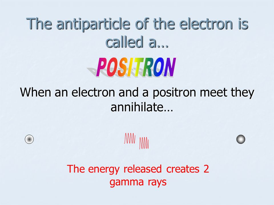 The antiparticle of the electron is called a…