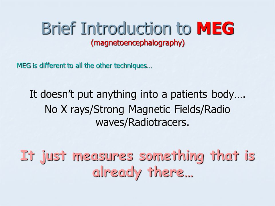 Brief Introduction to MEG (magnetoencephalography)