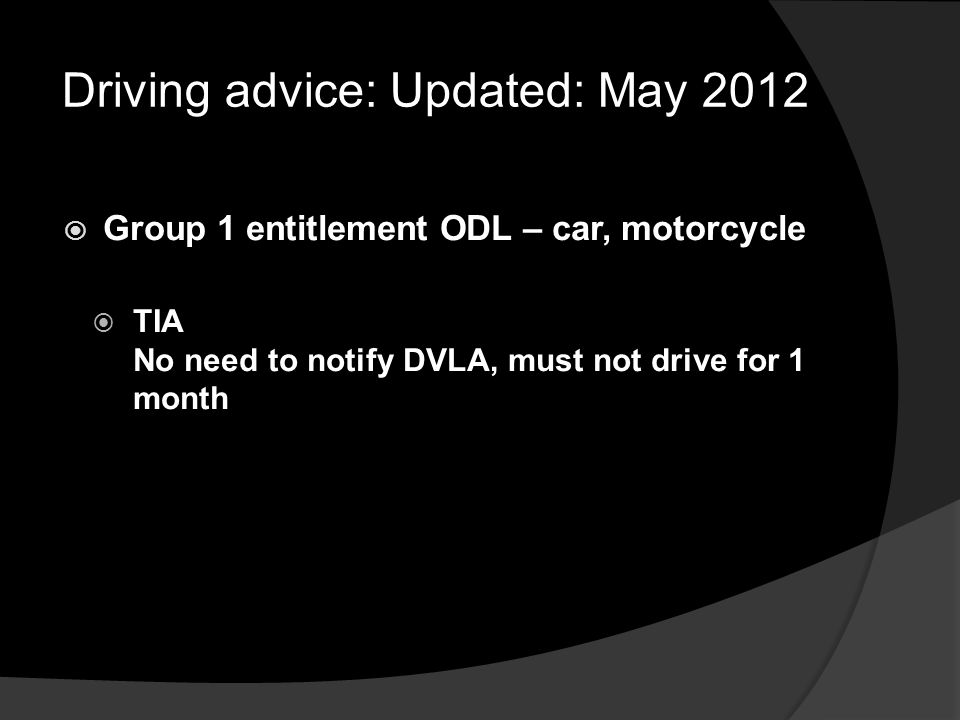 Driving advice: Updated: May 2012