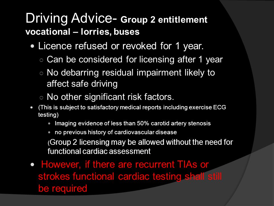 Driving Advice- Group 2 entitlement vocational – lorries, buses