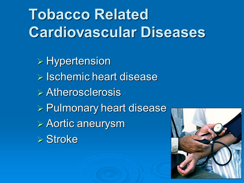 Tobacco Related Cardiovascular Diseases
