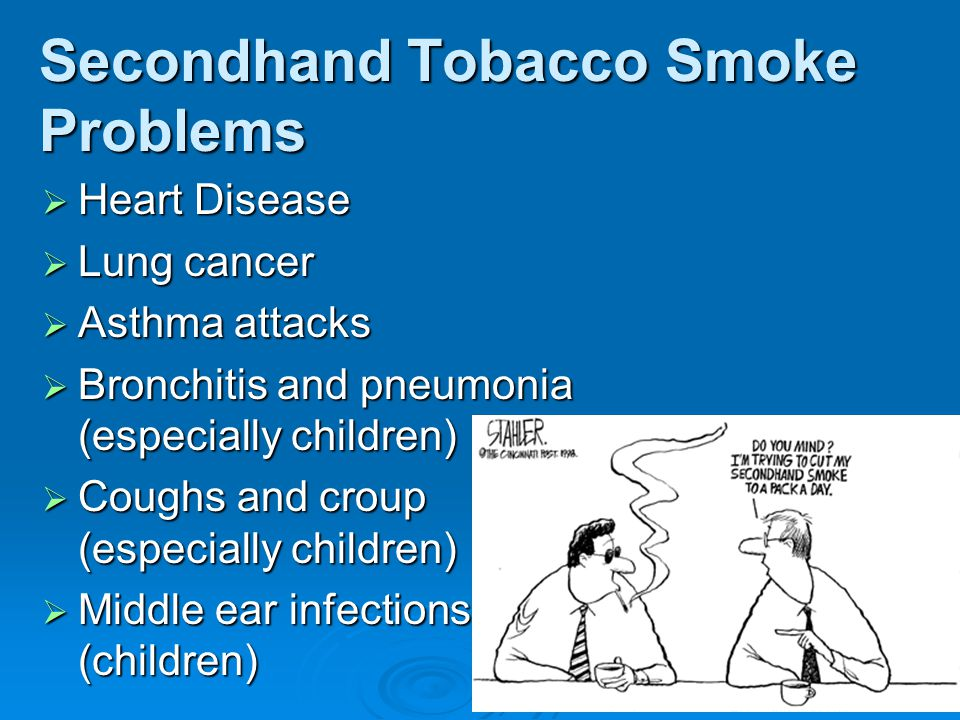 Secondhand Tobacco Smoke Problems