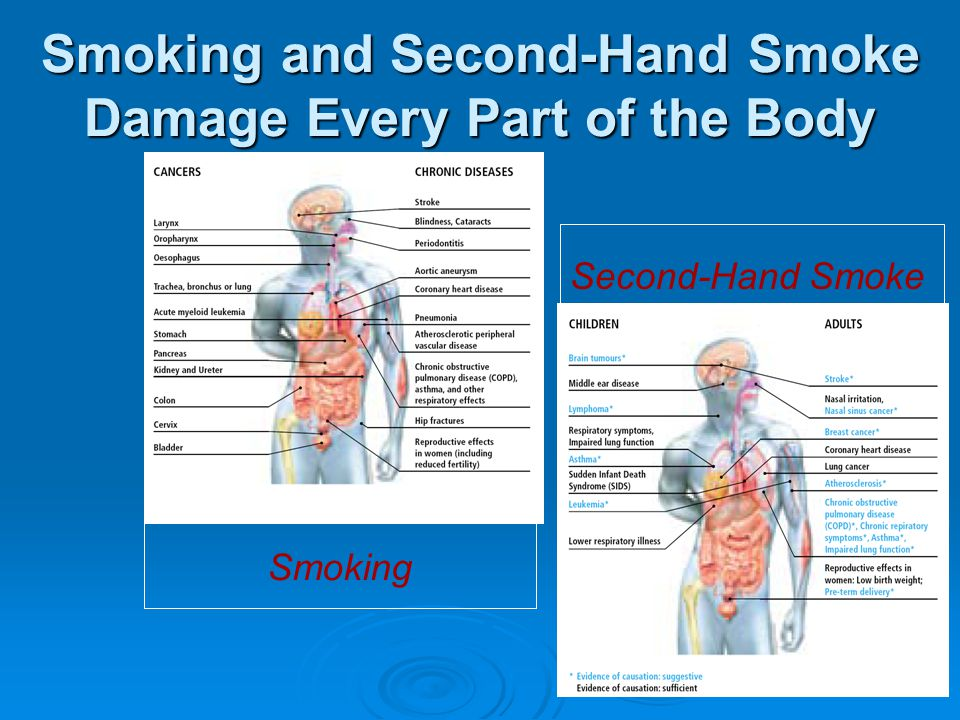 Smoking and Second-Hand Smoke Damage Every Part of the Body