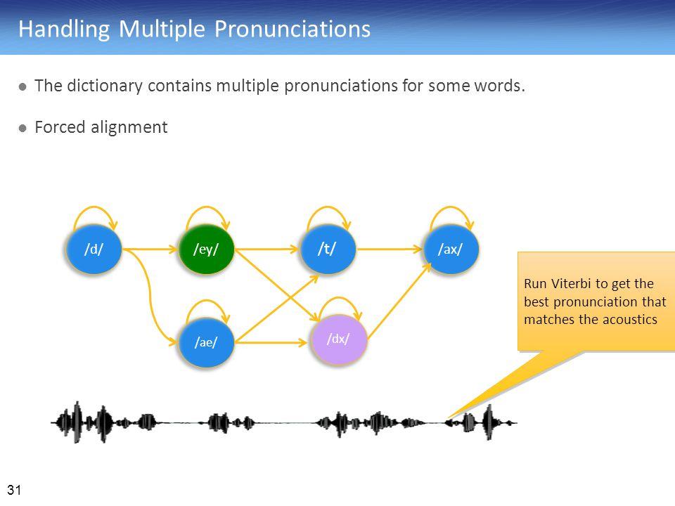 Handling Multiple Pronunciations