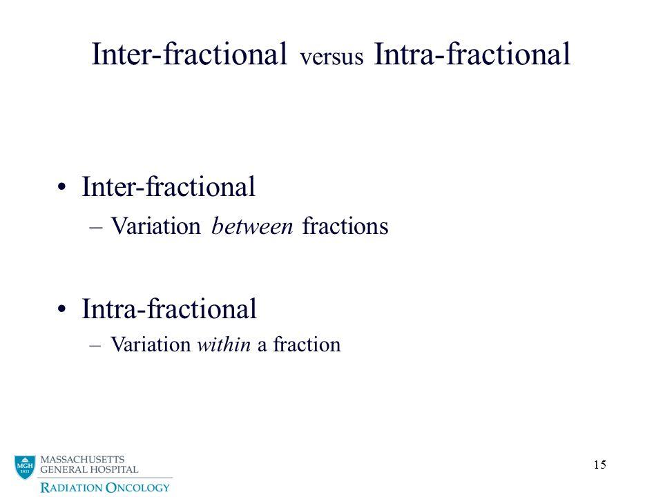Inter-fractional versus Intra-fractional