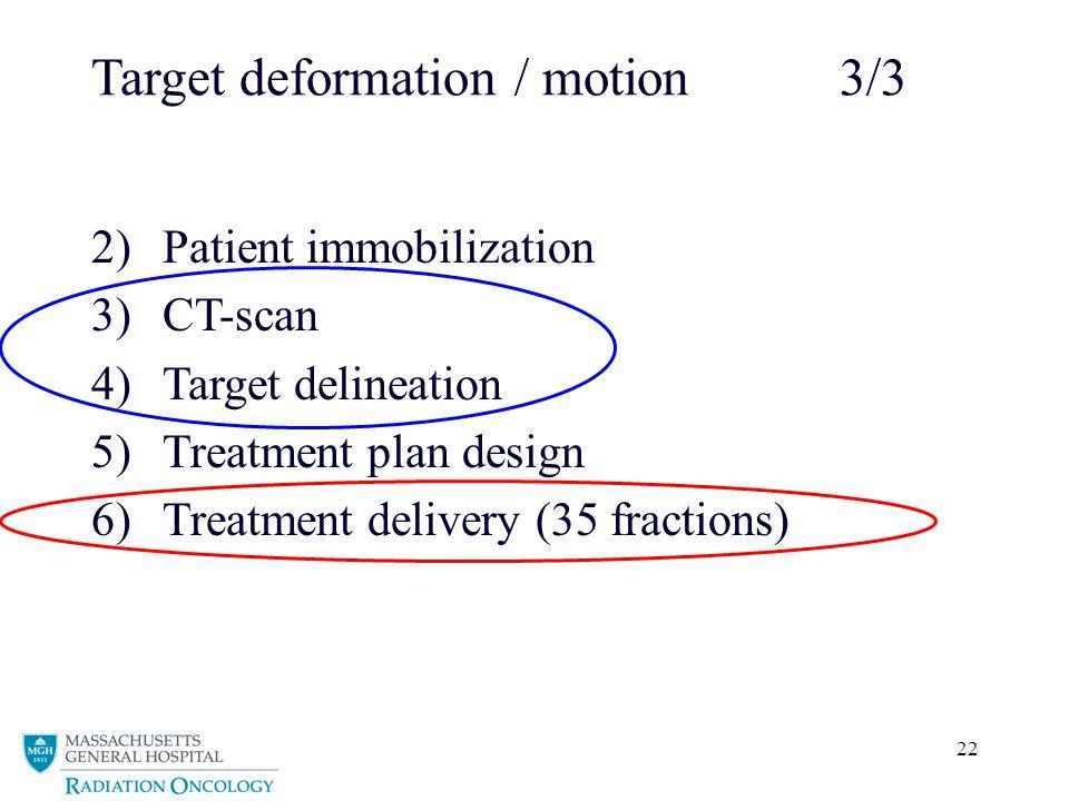 Target deformation / motion 3/3