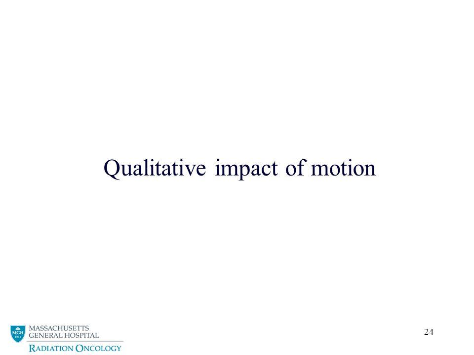 Qualitative impact of motion