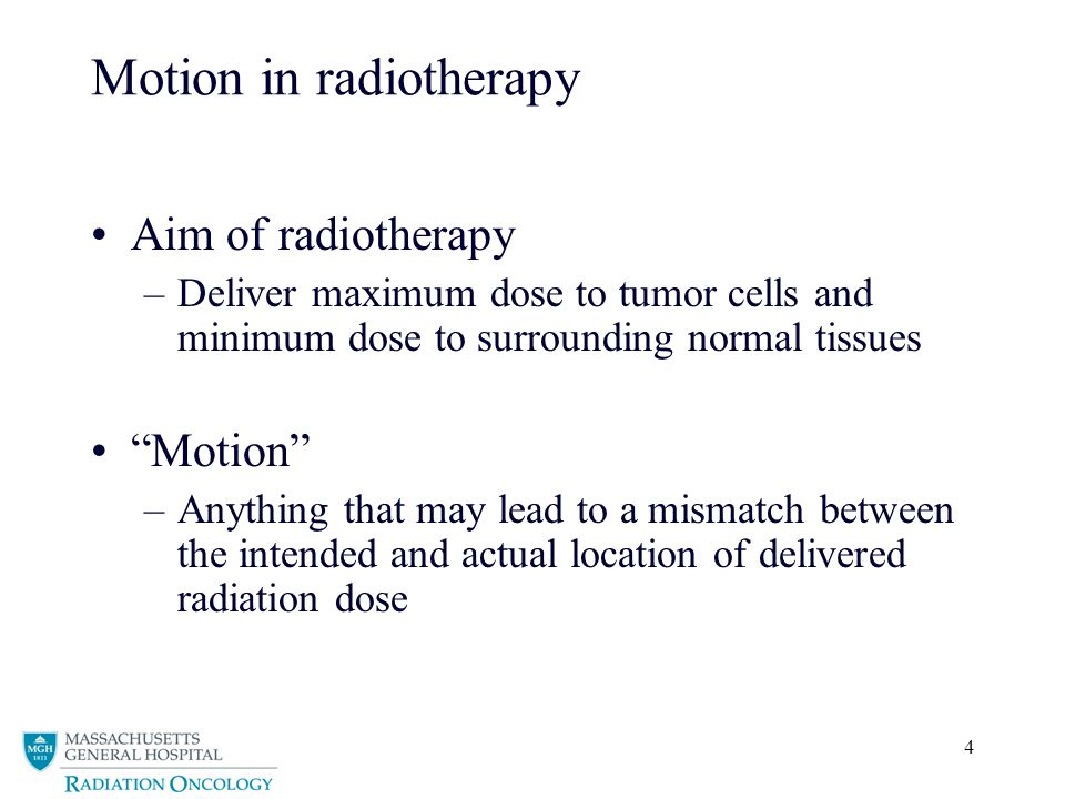 Motion in radiotherapy