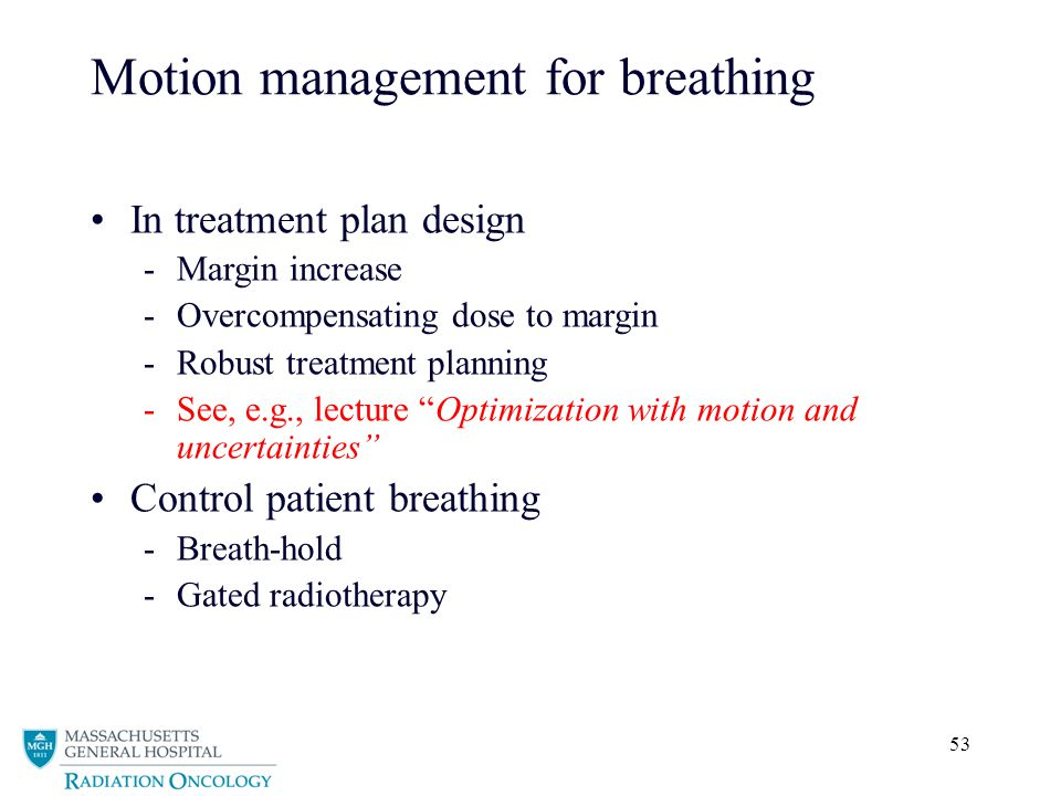 Motion management for breathing