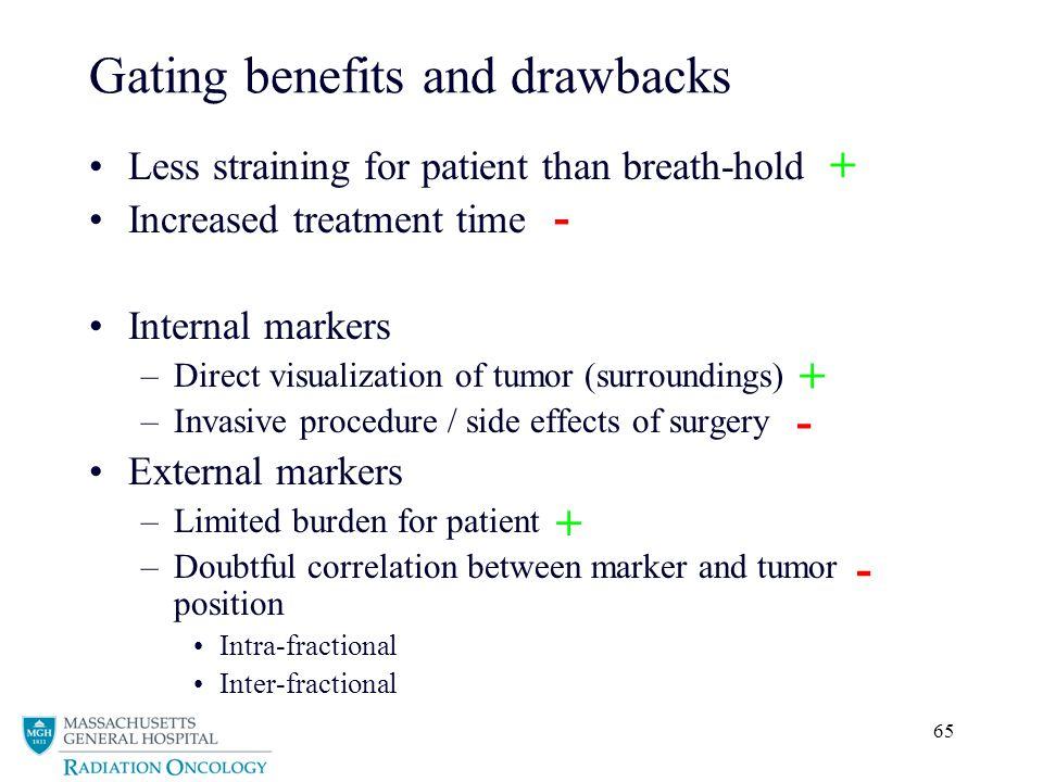Gating benefits and drawbacks
