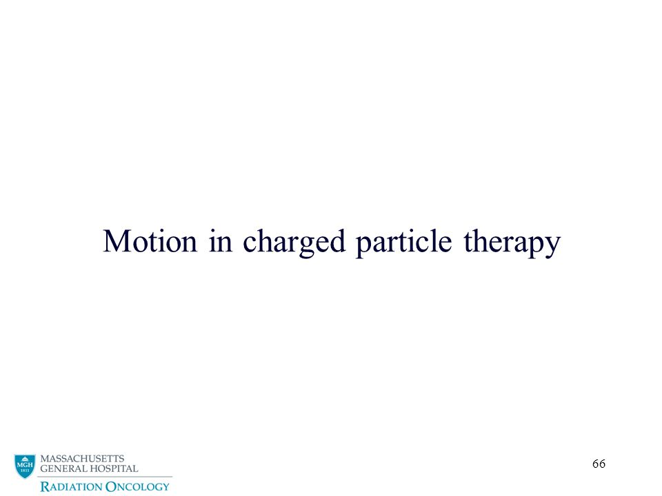 Motion in charged particle therapy