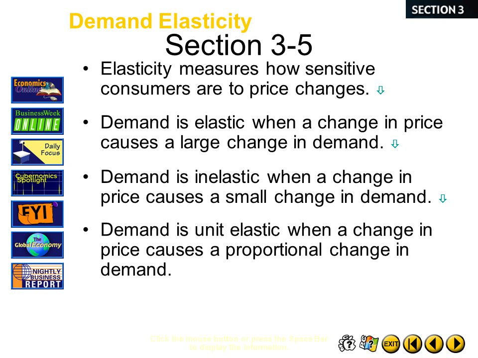 Section 3-5 Demand Elasticity