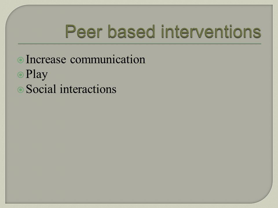 Peer based interventions