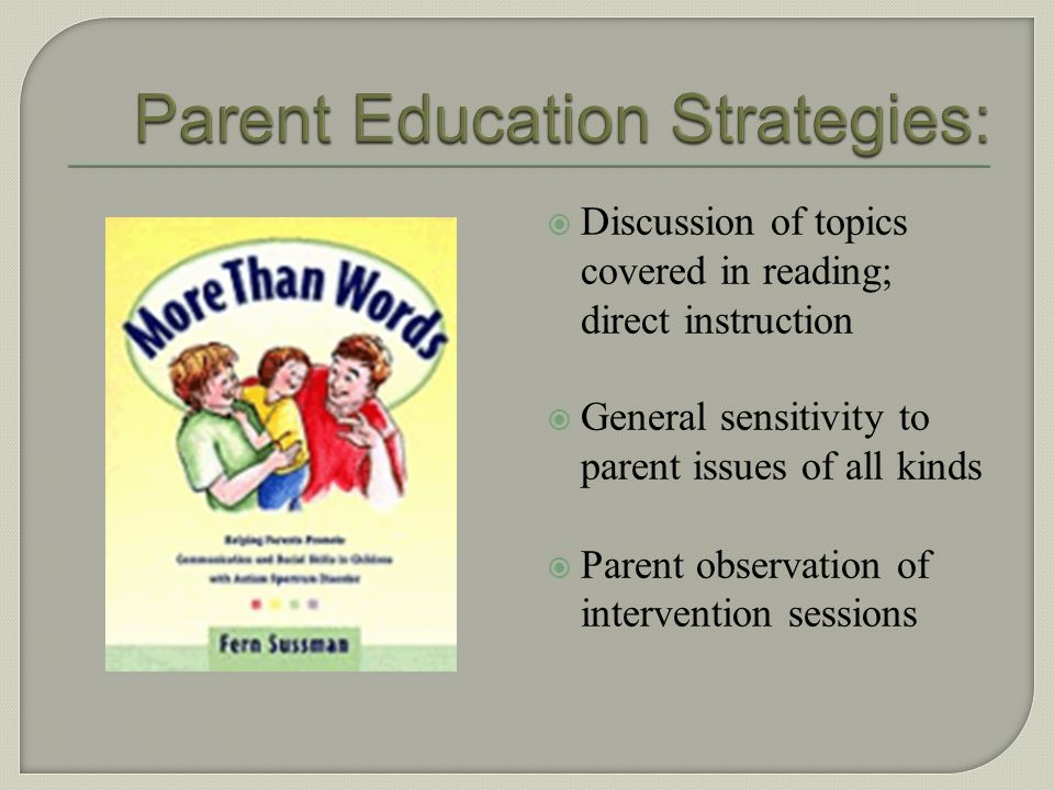 Parent Education Strategies: