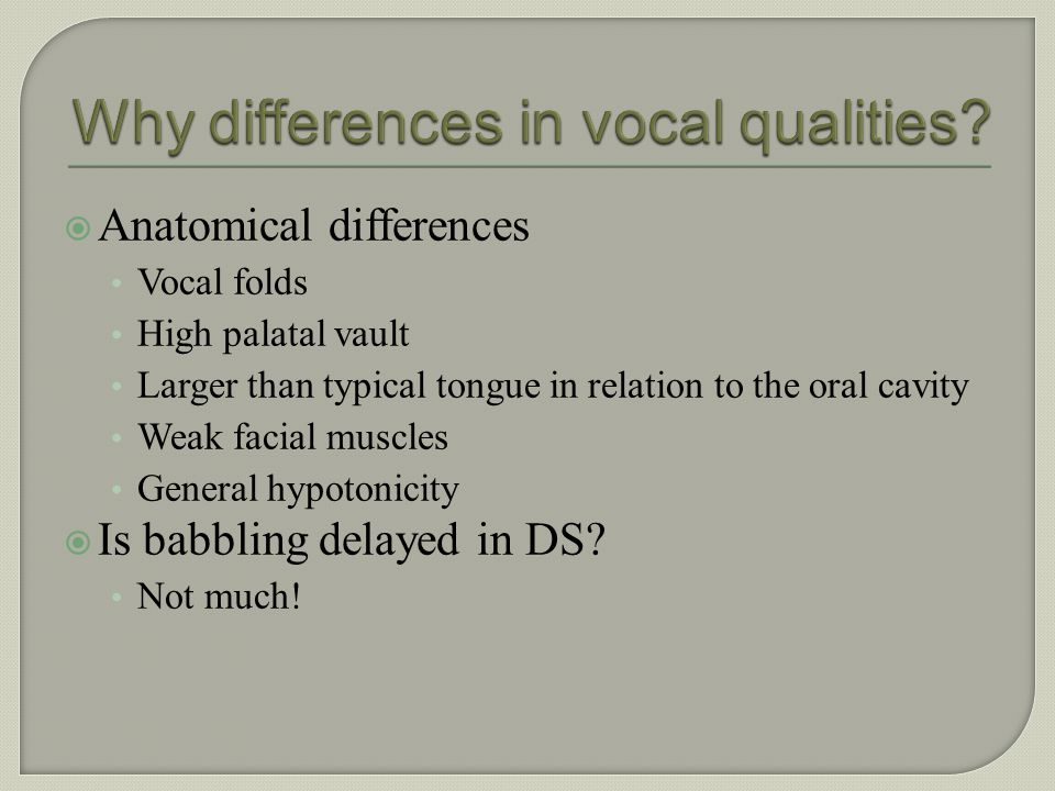 Why differences in vocal qualities