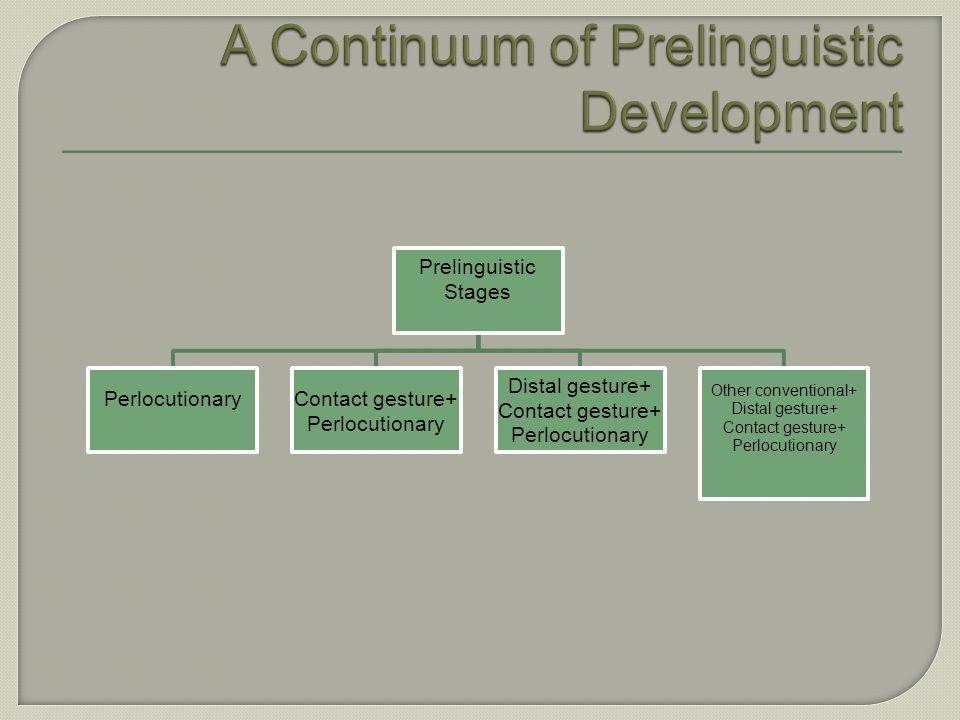 A Continuum of Prelinguistic Development