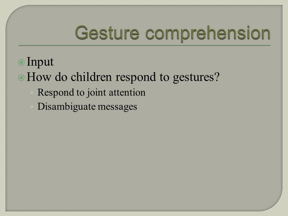 Gesture comprehension