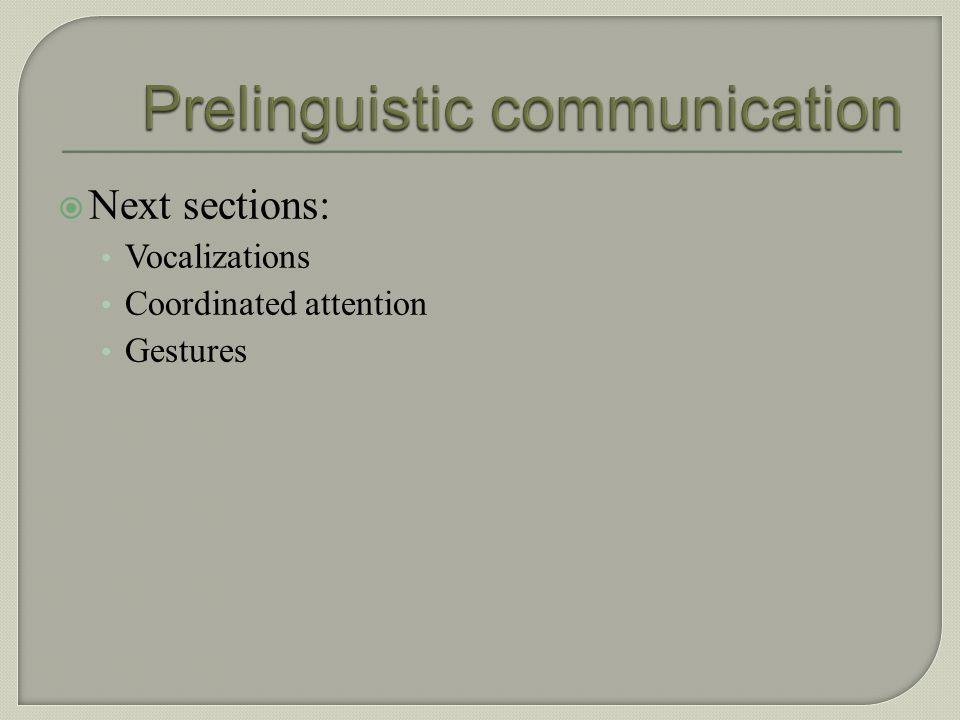 Prelinguistic communication