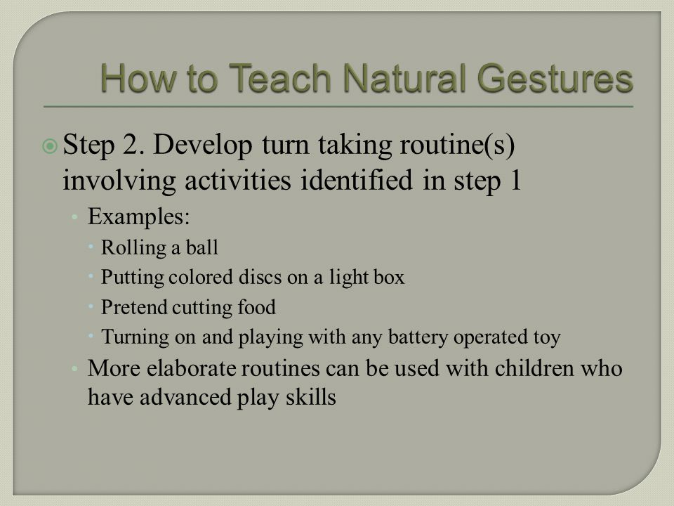 How to Teach Natural Gestures