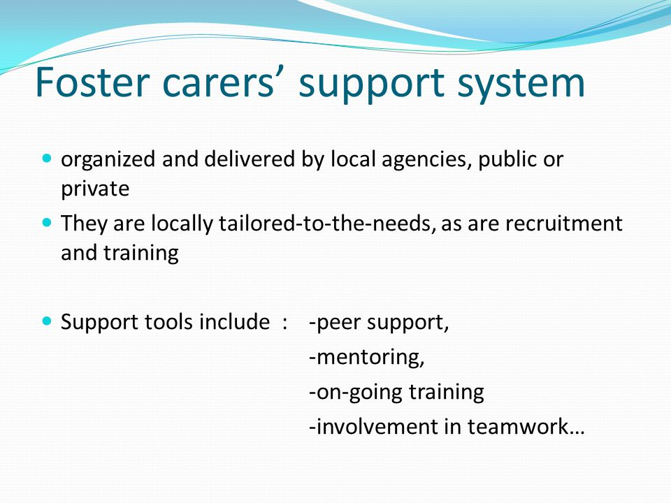 Foster carers' support system
