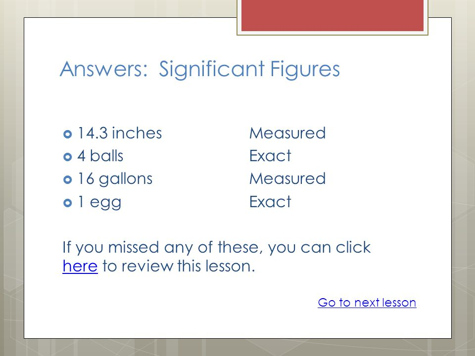 Answers: Significant Figures