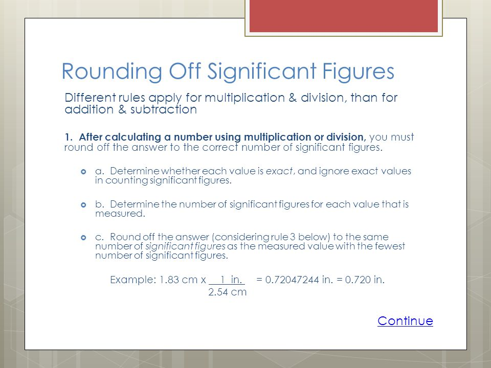 Rounding Off Significant Figures