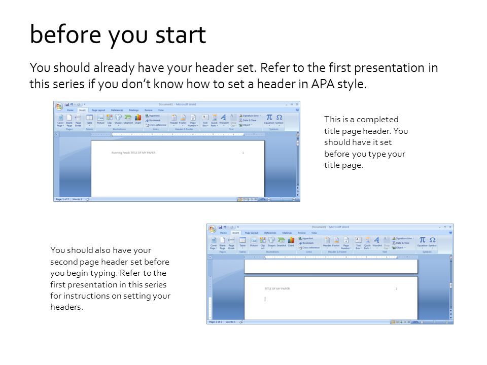 word 10 how to set first page header