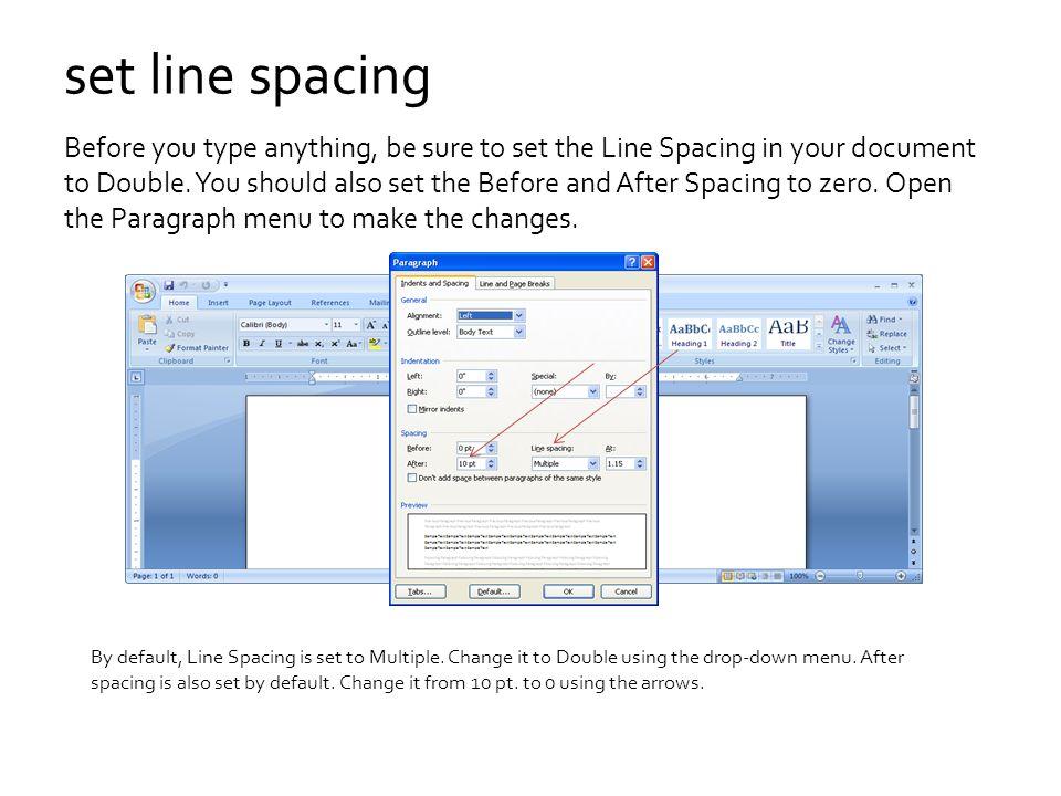 set line spacing
