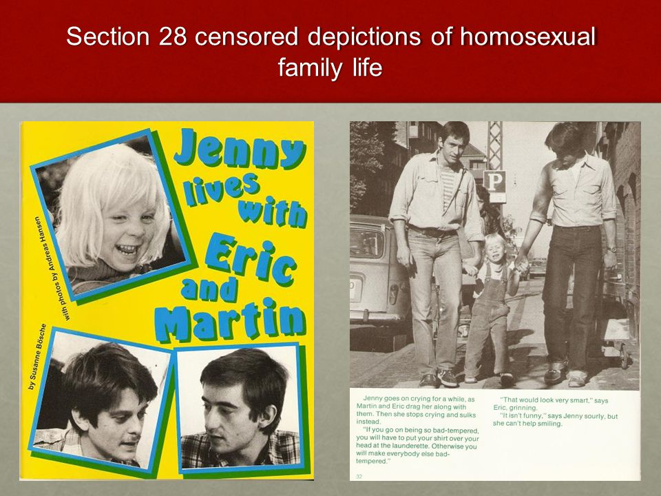 Section 28 censored depictions of homosexual family life