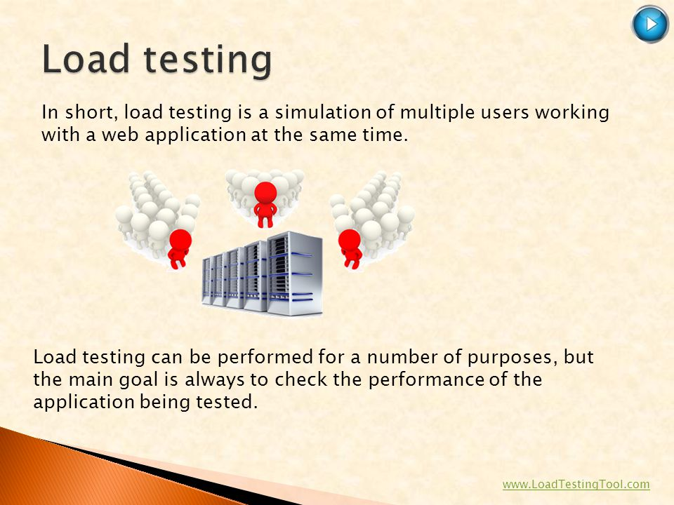SoftLogica Inc Load testing. In short, load testing is a simulation of multiple users working with a web application at the same time.