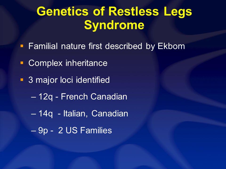 RLS Pathophysiology Central Nervous system dysfunction