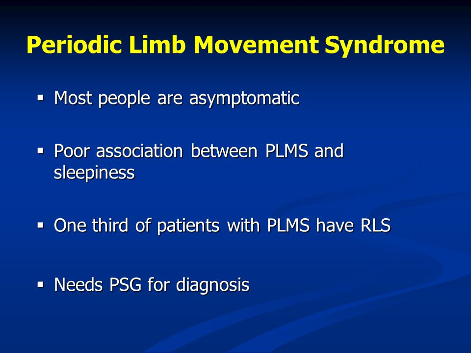 Treatment of RLS and PLMS