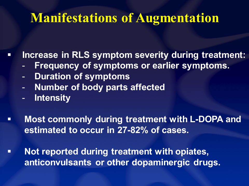 Conclusion RLS is common but under-diagnosed