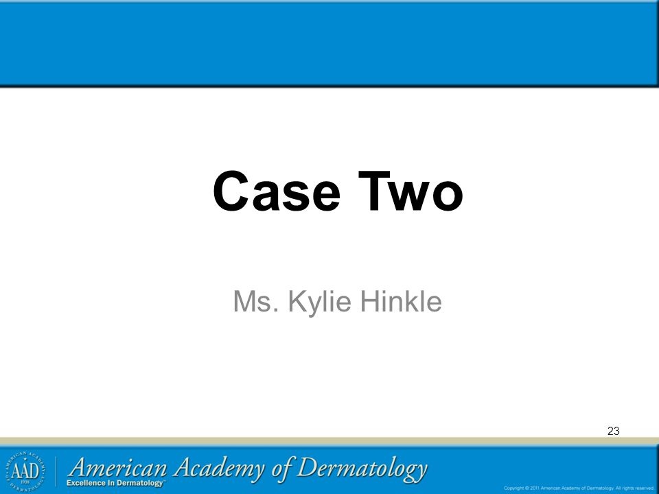 Case Two Ms. Kylie Hinkle