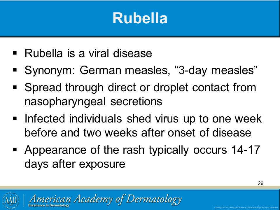 Rubella Rubella is a viral disease