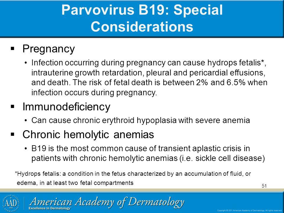 Parvovirus B19: Special Considerations