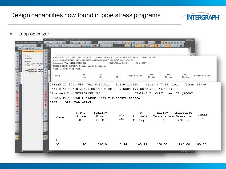 Design capabilities now found in pipe stress programs