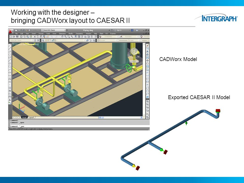 Working with the designer – bringing CADWorx layout to CAESAR II