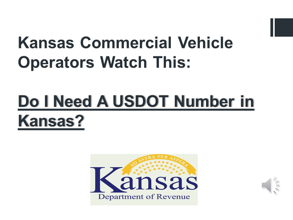Kansas Commercial Vehicle Operators Watch This: Do I Need A USDOT Number in Kansas