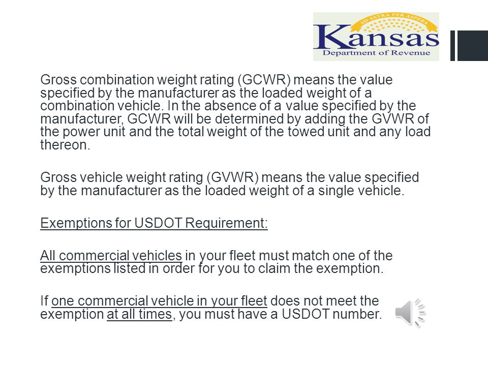 Gross combination weight rating (GCWR) means the value specified by the manufacturer as the loaded weight of a combination vehicle. In the absence of a value specified by the manufacturer, GCWR will be determined by adding the GVWR of the power unit and the total weight of the towed unit and any load thereon.