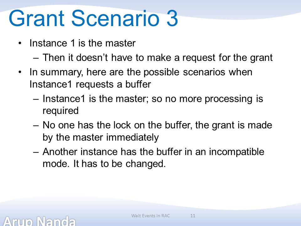Grant Scenario 3 Instance 1 is the master