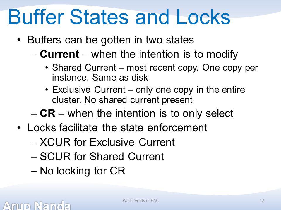 Buffer States and Locks