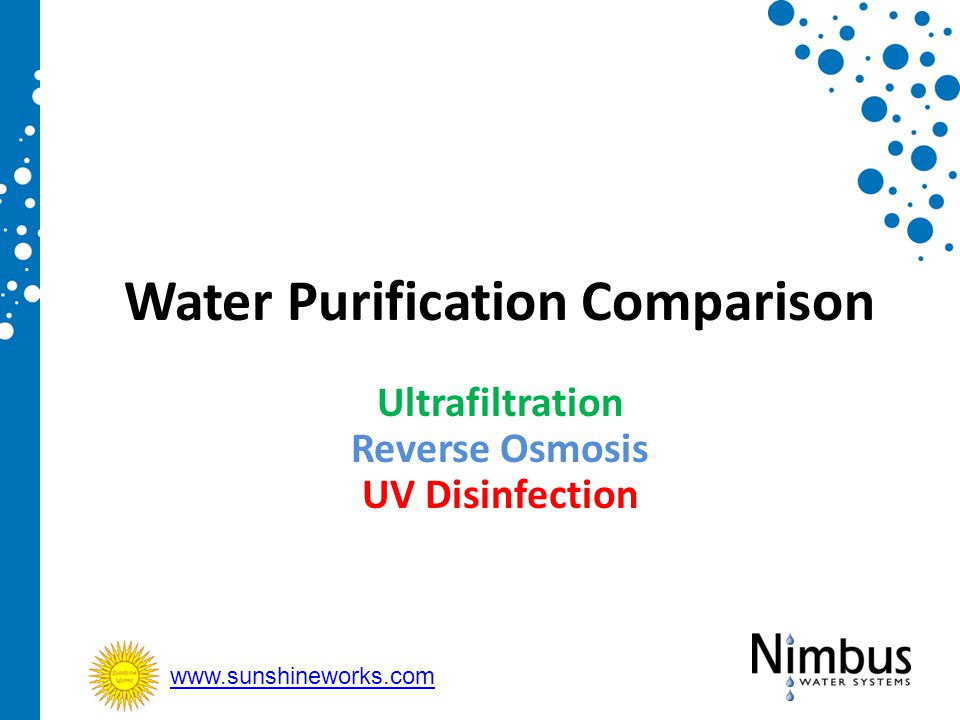 Water Purification Comparison